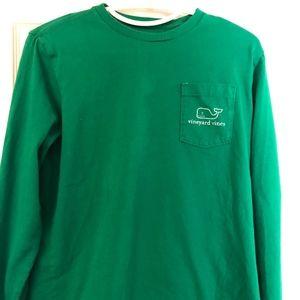 Vineyard Vines Whale Kelly Green LS Shirt Unisex L